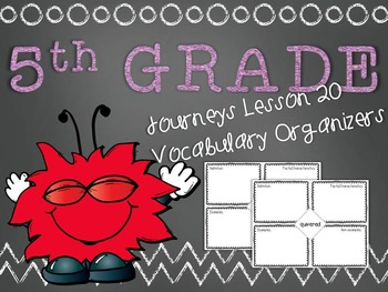 Journeys 5th Grade Lesson 20 Vocabulary Frayer Graphic Org