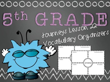Journeys 5th Grade Unit 5 Lesson 22 Vocabulary Frayer Grap