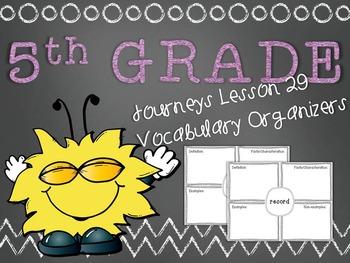 Journeys 5th Grade Unit 6 Lesson 29 Vocabulary Frayer Grap