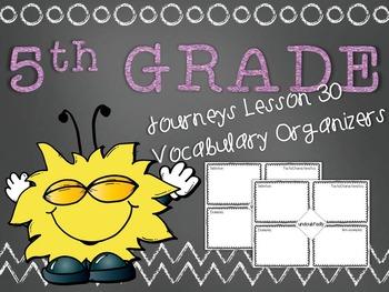 Journeys 5th Grade Unit 6 Lesson 30 Vocabulary Frayer Grap
