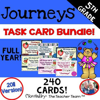 Journeys 5th Grade Units 1-6 Early Finishers Task Cards 20