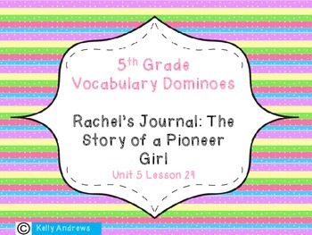 Journey's 5th Grade Vocabulary Dominoes Rachel's Journal