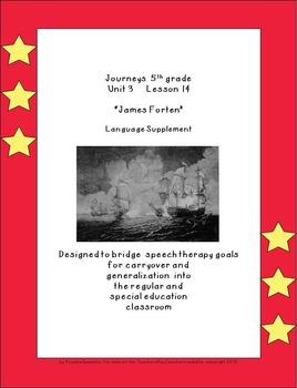 "Journeys 5th grade U3  L14 ""James Forten"" supplementals fo"