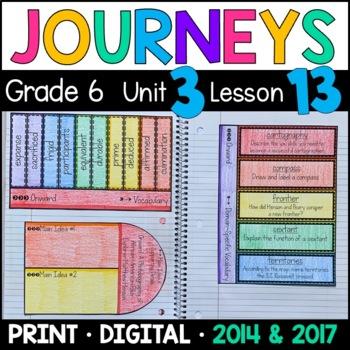 Journeys 6th Grade Lesson 13: Onward (Supplemental & Inter