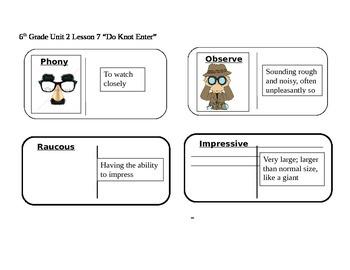 "Journeys 6th Grade Reading Series Vocabulary Dominoes ""Do"
