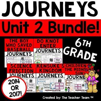 Journeys 6th Grade Unit 2 Supplemental Materials 2014