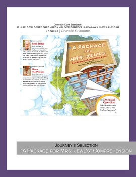 "Journey's ""A Package for Mrs. Jewls"" Comprehension & Vocab"