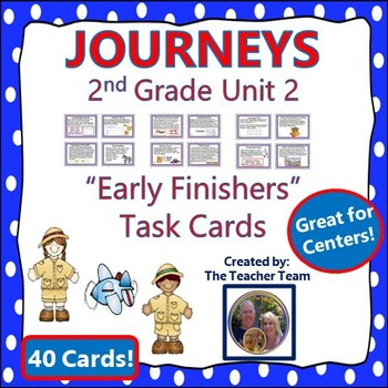 Journeys 2nd Grade Unit 2 Early Finishers Task Cards 2011