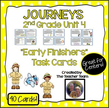 Journeys 2nd Grade Unit 4 Early Finishers Task Cards 2011
