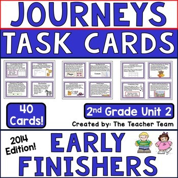 Journeys 2nd Grade Unit 2 Early Finishers Task Cards 2014