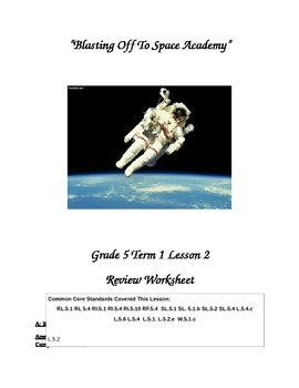 """Journey's """"Blasting Off to Space Academy"""" Comprehension &"""