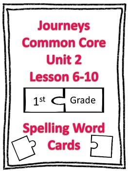 Journeys Common Core 1st Grade Spelling Cards