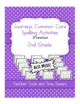 Journeys 2nd Grade Spelling Activities - D'Nealian - ALL 3