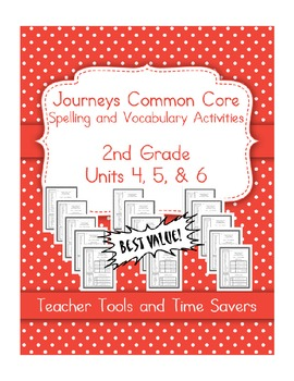Journeys 2nd Grade Spelling & Vocabulary - Centers or Home
