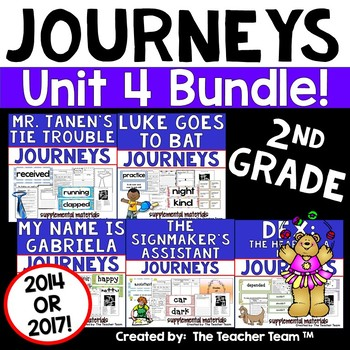 Journeys 2nd Grade Unit 4 Supplemental Materials 2014