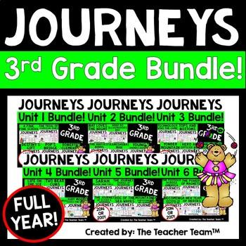 Journeys 3rd Grade Reading Language Arts Units 1-6 Full Ye