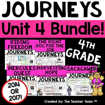 Journeys 4th Grade Unit 4 Supplemental Materials 2014