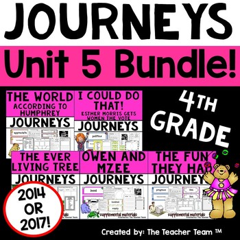 Journeys 4th Grade Unit 5 Supplemental Materials 2014