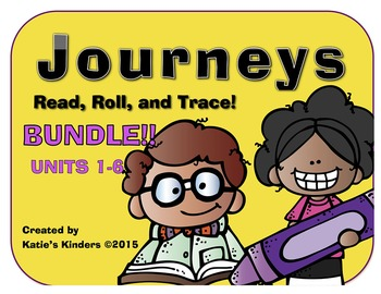 Journeys Common Core BUNDLE Roll, Read, & Trace Game!