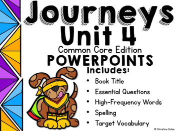 Journeys Common Core Edition 2nd Grade Unit 4 PowerPoints