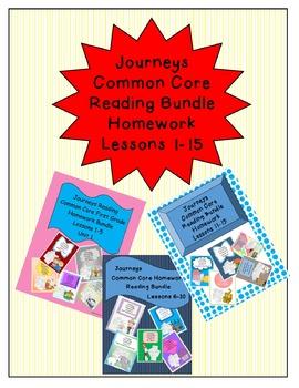 Journeys Common Core First Grade Homework Bundle Lessons 1
