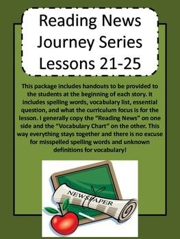 Journey's Reading Series Grade 5 Unit 5