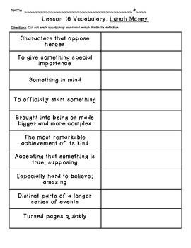 Journeys Common Core: Vocabulary Sorts for Unit 4 {Grade 5}