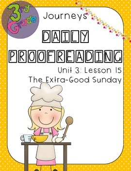 Journeys Daily Proofreading Third Grade Lesson 15