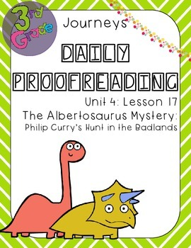 Journeys Daily Proofreading Third Grade Lesson 17