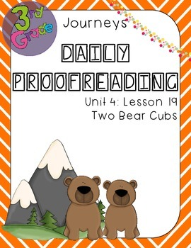 Journeys Daily Proofreading Third Grade Lesson 19