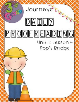 Journeys Daily Proofreading Third Grade Lesson 4