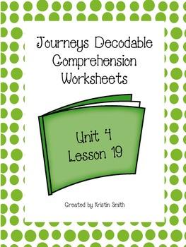 Journeys Decodable Comprehension Pages Lesson 19