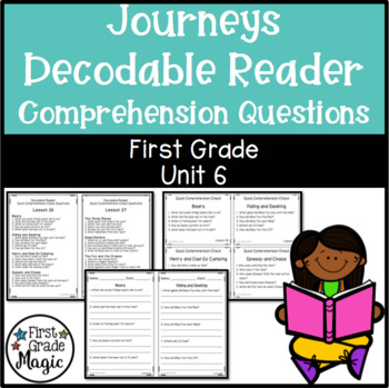 Journeys Decodable Reader Comprehension Questions for FIRS