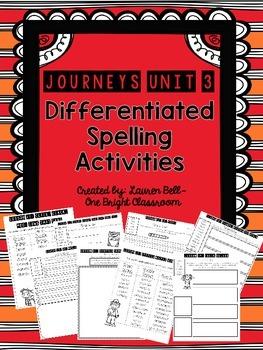 Journeys Differentiated Spelling Activities {UNIT 3}