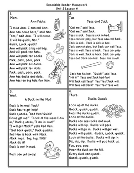 Journeys First Grade (2011) Decodable Readers Unit 2