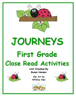 Journeys First Grade Close Reading Activities 2013 Edition