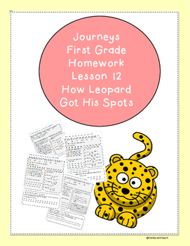 Journeys First Grade Common Core Homework Lesson 12 How Le