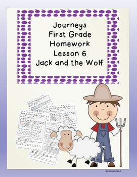 Journeys First Grade Common Core Homework Lesson 6 Jack an