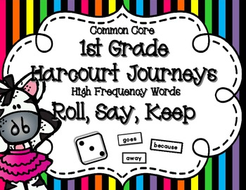 Journeys Common Core High Frequency Word (Sight Word) Roll
