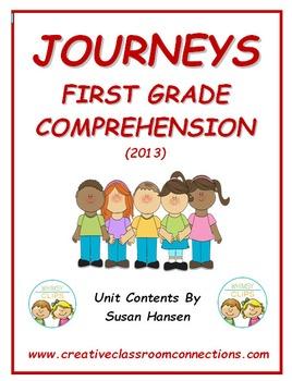 Journeys First Grade Comprehension Activities 2013 Edition