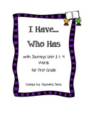 Journeys First Grade- I Have...Who Has Game (Unit 3 & 4)