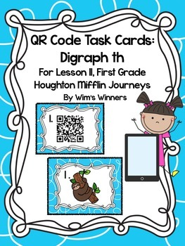 Journeys First Grade Lesson 11 QR Codes: Digraph th