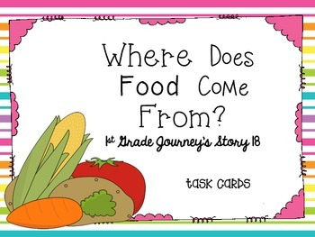 Journey's First Grade Lesson 18 Where Does Food Come From?
