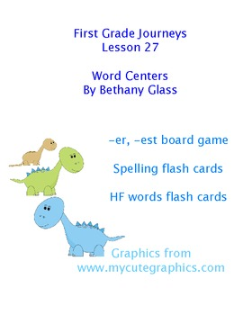 Journeys First Grade Lesson 27 Word Centers