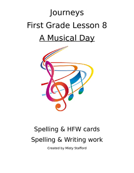 Journeys First Grade Lesson 8