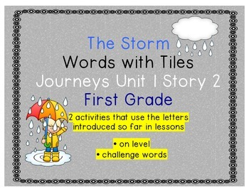 Journeys First Grade Reading Unit 1 Lesson 2 The Storm Let