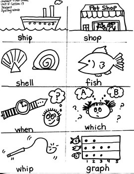 Journeys First Grade: Seasons  Unit 3/Lesson 13-- Spelling