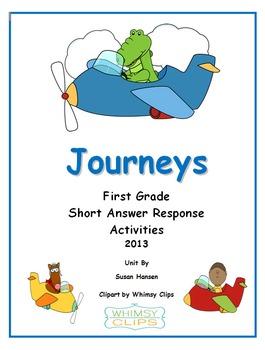 Journeys First Grade Short Answer Response Activities 2013