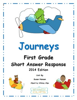 Journeys First Grade Short Answer Response Activities 2014