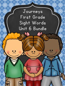 Journeys First Grade Sight Words Unit 6 Bundle